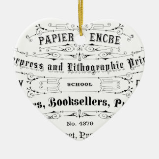 vintage typography advert booksellers ceramic ornament
