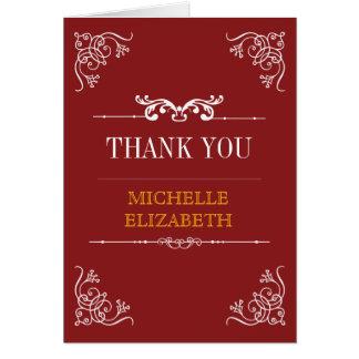 Vintage Typography Bar/Bat Mitzvah Thank You Greeting Cards