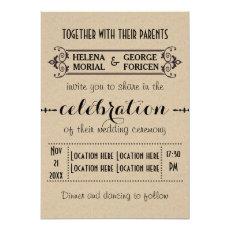 Vintage typography beige craft paper wedding 5