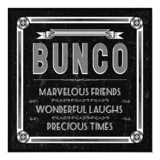 Vintage Typography Bunco Invite