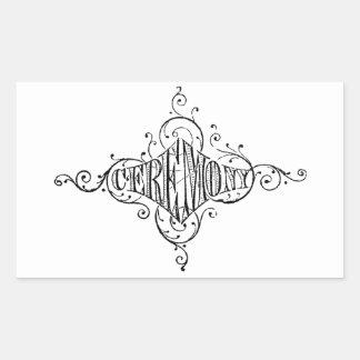 vintage typography CEREMONY wedding script Rectangular Sticker
