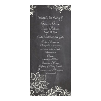 vintage typography Chalkboard Wedding programs