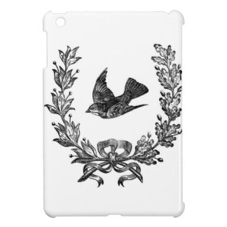 vintage typography design dove & wreath bird iPad mini case