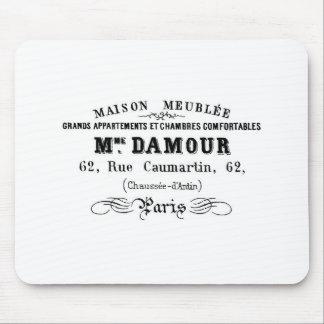 Vintage typography design M'Damour Mouse Mat