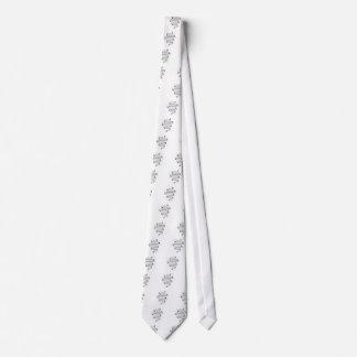 vintage typography fabric design neck tie