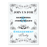 Vintage typography flourish swirl party personalized invitations
