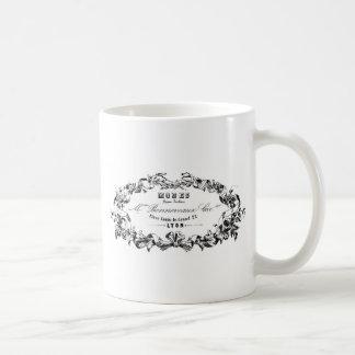 Vintage Typography French Ribbon Modes design Classic White Coffee Mug