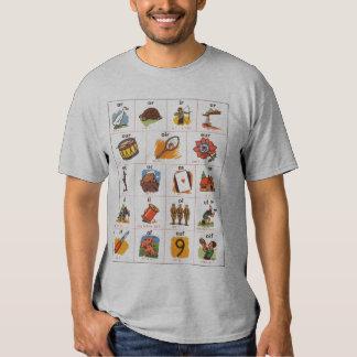 Vintage Typography French Vocabulary Alphabet T Shirt
