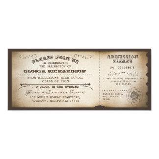 vintage typography graduation tickets invitations