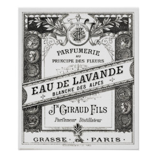 Vintage Typography Perfume Advertisement Poster