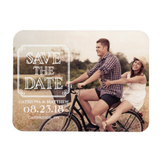 Vintage Typography | Photo Save the Date Magnet