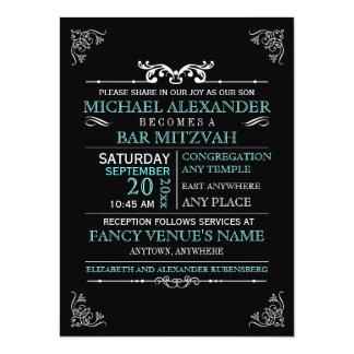 Vintage Typography Poster Bar-Bat Mitzvah Card