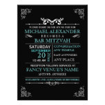 Vintage Typography Poster Bar-Bat Mitzvah Personalized Invite