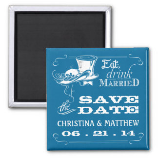 Vintage Typography Save the Date Magnets