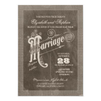 vintage typography stylish wedding invitations