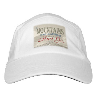 Vintage Typography The mountains are calling; Muir Headsweats Hat