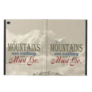 Vintage Typography The mountains are calling; Muir Powis iPad Air 2 Case