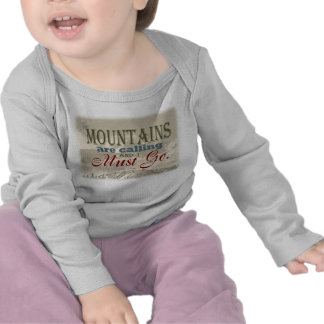 Vintage Typography The mountains are calling; Muir Tees