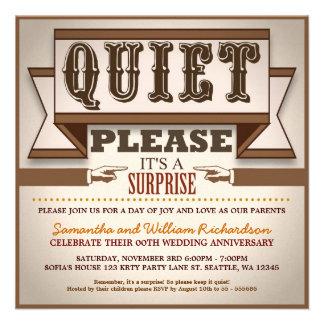 vintage typography unique anniversary invitations