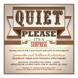 Funny anniversary invitations announcements zazzle vintage typography unique anniversary invitations stopboris