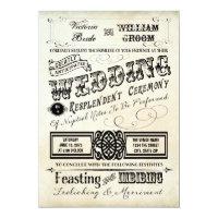 Vintage Typography Wedding Invitation