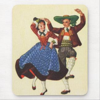 Vintage Tyrolean dancers, Austria Mouse Pad