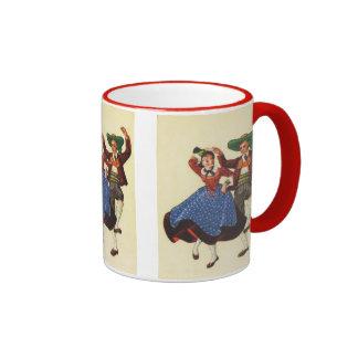 Vintage Tyrolean dancers, Austria Ringer Mug