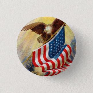 Vintage U.S.A Flag and Eagle Button