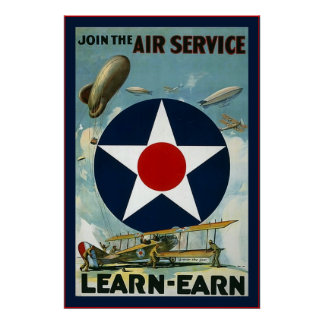 Vintage U.S Air Service~Vintage World War 1 Poster