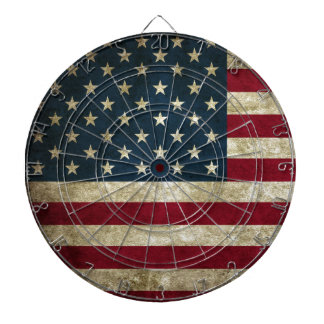 Vintage U.S. Flag Dart Boards