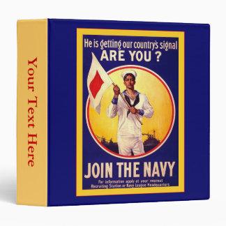 Vintage U.S Navy 3 Ring Binder