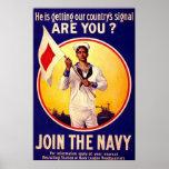 Vintage U.S Navy ~ WW1 Poster
