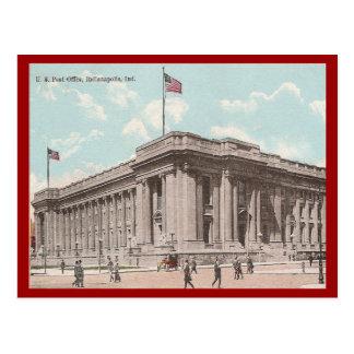 Vintage U.S. Post Office, Indianapolis Postcard