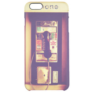 Vintage U.S. Public Pay Phone - Transparent Uncommon Clearly™ Deflector iPhone 6 Plus Case