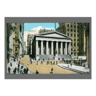 Vintage U S Subtreasury New York City Personalized Invitation