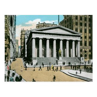 Vintage U.S. Subtreasury, New York City Postcard