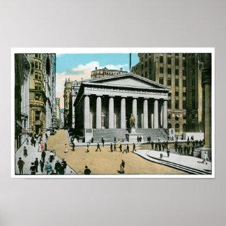 Vintage U.S. Subtreasury, New York City Posters
