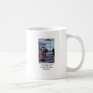 Vintage UFO Sighting Mug - burn the evidence