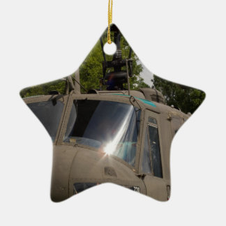 Vintage Uh-1 Huey Military Helicopter Ceramic Ornament