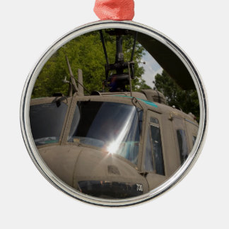 Vintage Uh-1 Huey Military Helicopter Metal Ornament