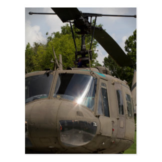 Vintage Uh-1 Huey Military Helicopter Postcard