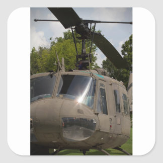 Vintage Uh-1 Huey Military Helicopter Square Sticker