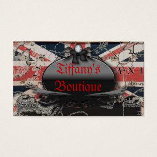 vintage UK British Union Jack london fashion Business Card