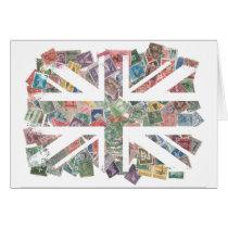 Vintage UK Flag Postage Stamp pattern