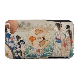 Vintage ukiyo-e japanese ladies with umbrella art iPhone 3 cover