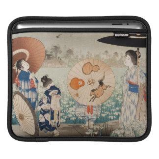 Vintage ukiyo-e japanese ladies with umbrella art sleeve for iPads