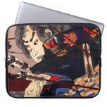 Vintage Ukiyo-e Japanese Samurai Painting Laptop Sleeves