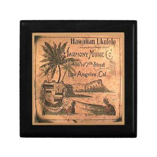 Vintage Ukulele Lable Gift Box