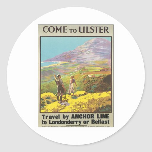 Vintage Ulster Londonderry Classic Round Sticker
