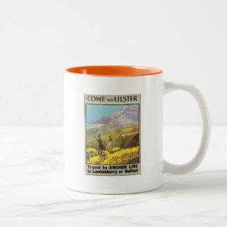 Vintage Ulster Londonderry Two-Tone Coffee Mug